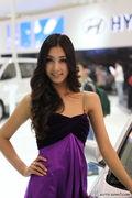 现代印度混血美女车模