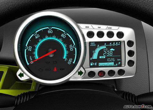 spark将搭载1.0l直列4缸发动机,配备五速手动变速箱,百公里混高清图片