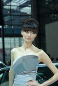 奥迪美女模特车展实拍
