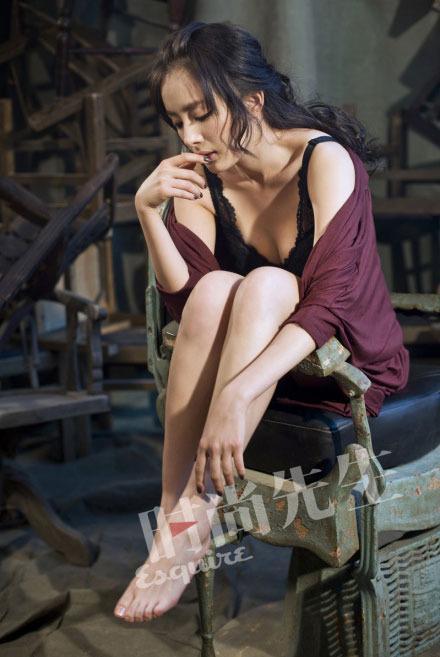 杨幂性感写真女人味十足 冯绍峰 她挺美的图片