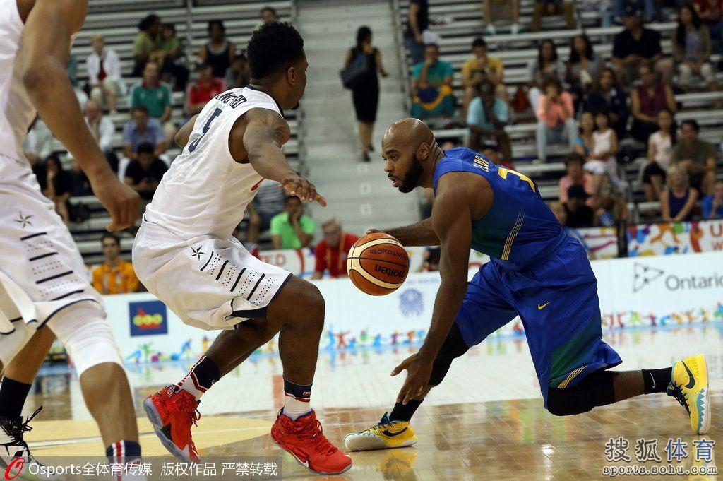 2015年7月24日,2015年泛美运动会男篮小组赛:美国102:70胜波多