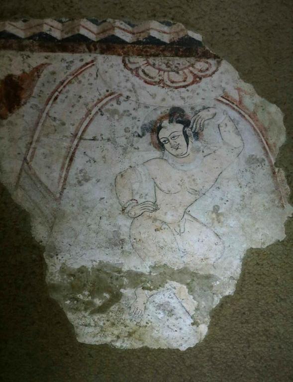 陕西展出千年赤裸天神壁画 尺度太大致无人问津