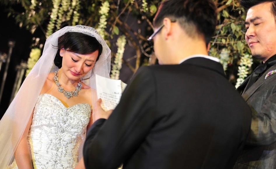 江苏卫视《一站到底》主持人李好郭晓敏大婚图