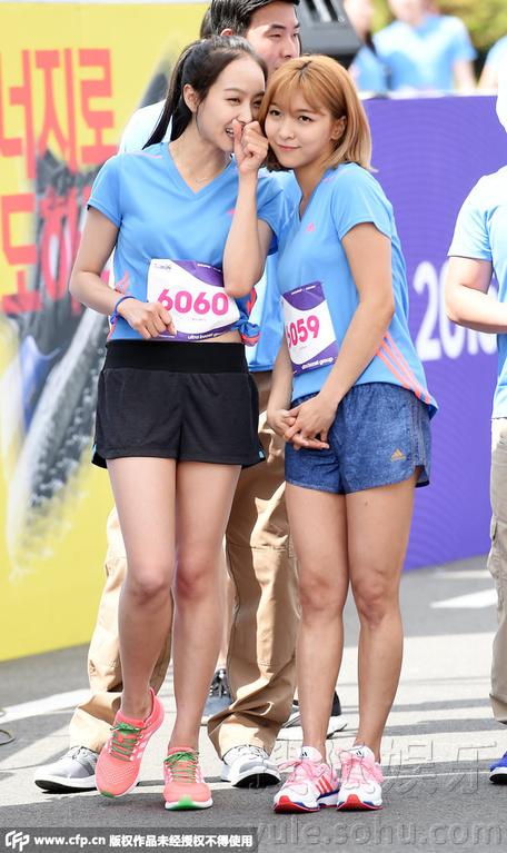 7日,韩国女子组合FX的成员宋茜参加某品牌举办的马拉松活动.她图片