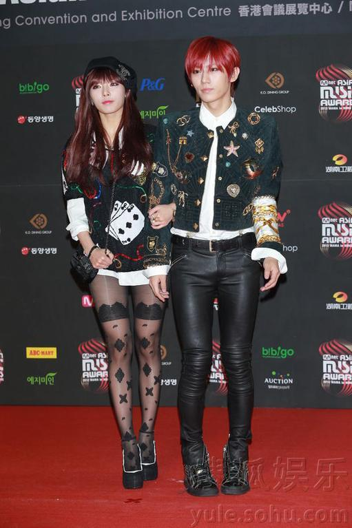 2012MAMA音乐颁奖礼 EXO崔智友领衔红毯星阵