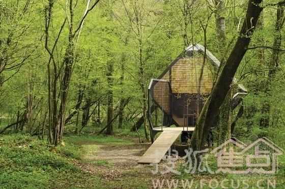 隐居在森林里的小木屋
