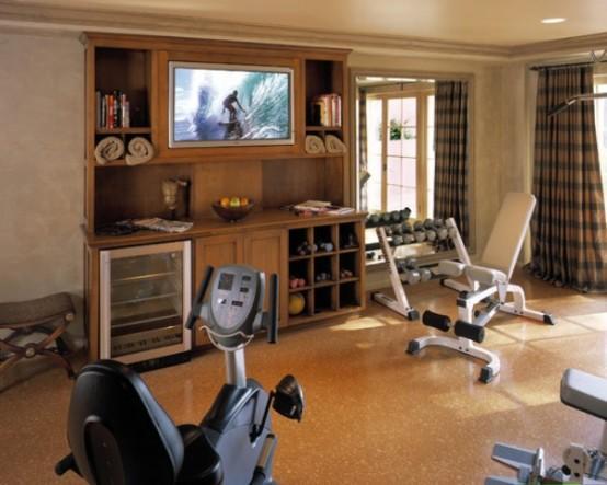 型男最爱的家庭健身房装修效果图欣赏;