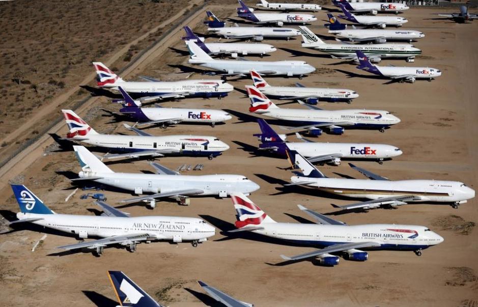 航拍美国加州飞机坟场