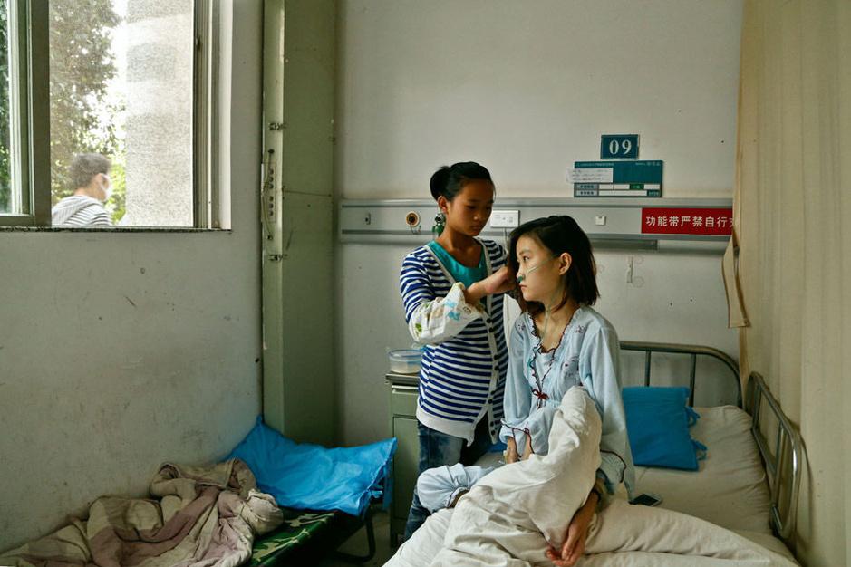 少女患先天心臟病住院母親失蹤圖片