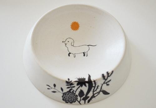 小清新陶瓷工艺 杯盘上的可爱手绘插画