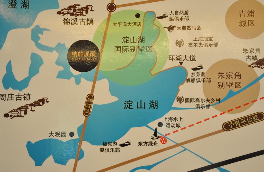纳帕溪醍区域图 纳帕溪醍位于上海淀山湖4a旅游风景区