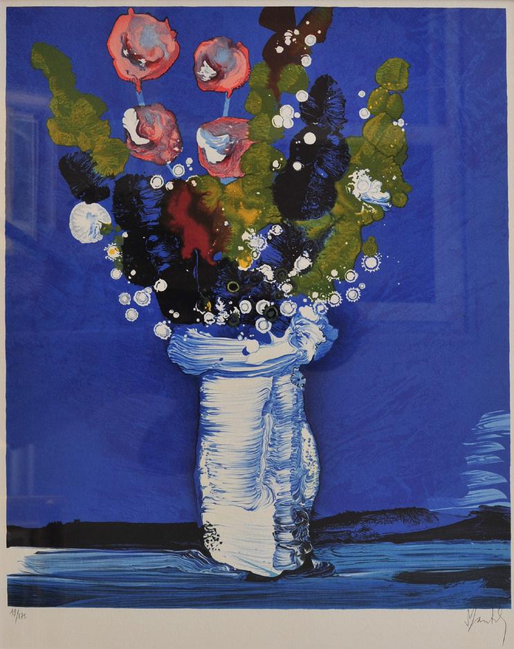 国际油画大师马克作品:花卉风景系列