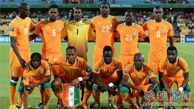 巴西世界杯科特迪瓦队