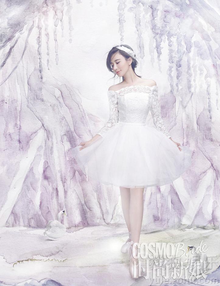 杨颖婚纱手绘图片大全
