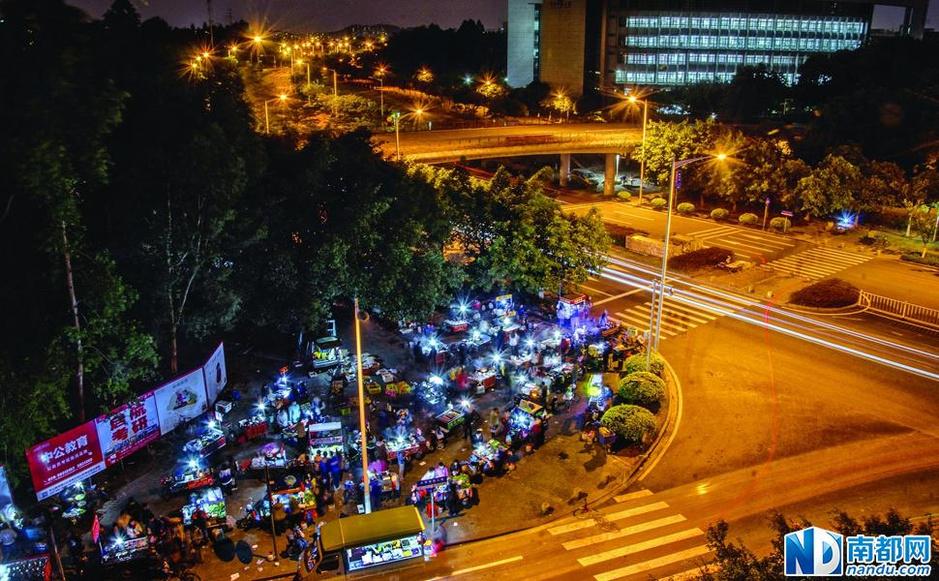 广州电视塔夜市
