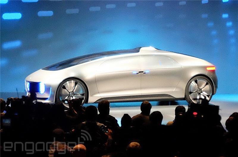 奔驰智能无人驾驶汽车f015高清图片