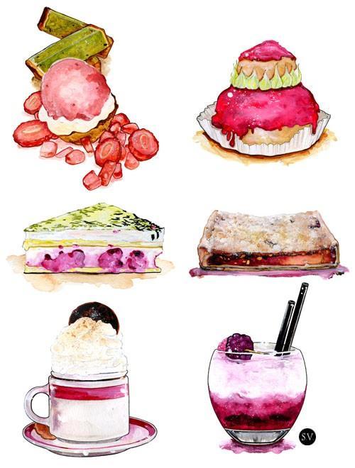 下午茶时间到!用手绘甜点给眼睛解解馋