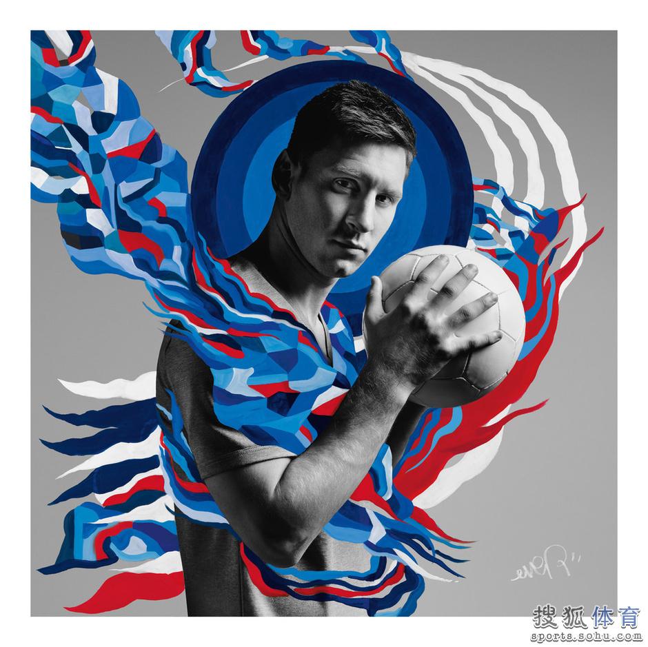 巴萨足球手绘海报