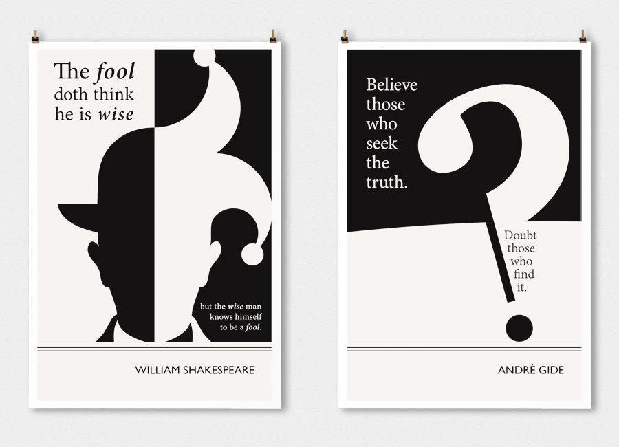 当艺术与文学相遇 文学海报设计