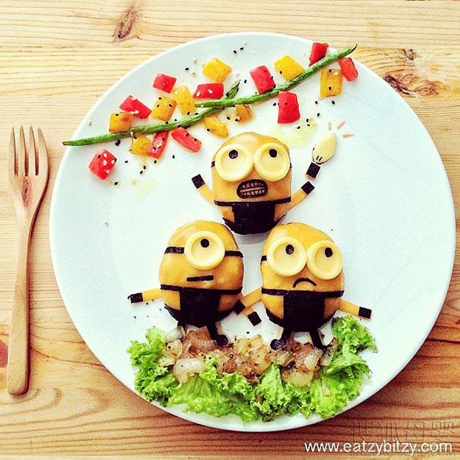 爱心妈妈为宝宝准备创意午餐图片