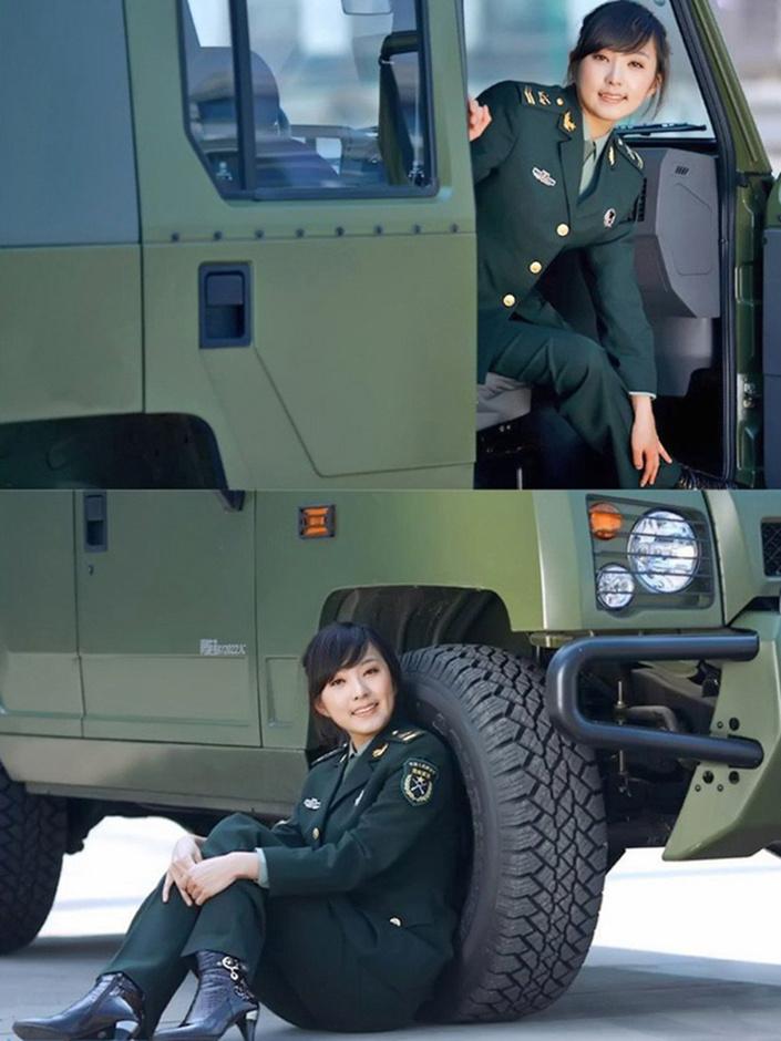 军_清丽军花与军车写真 人见人爱