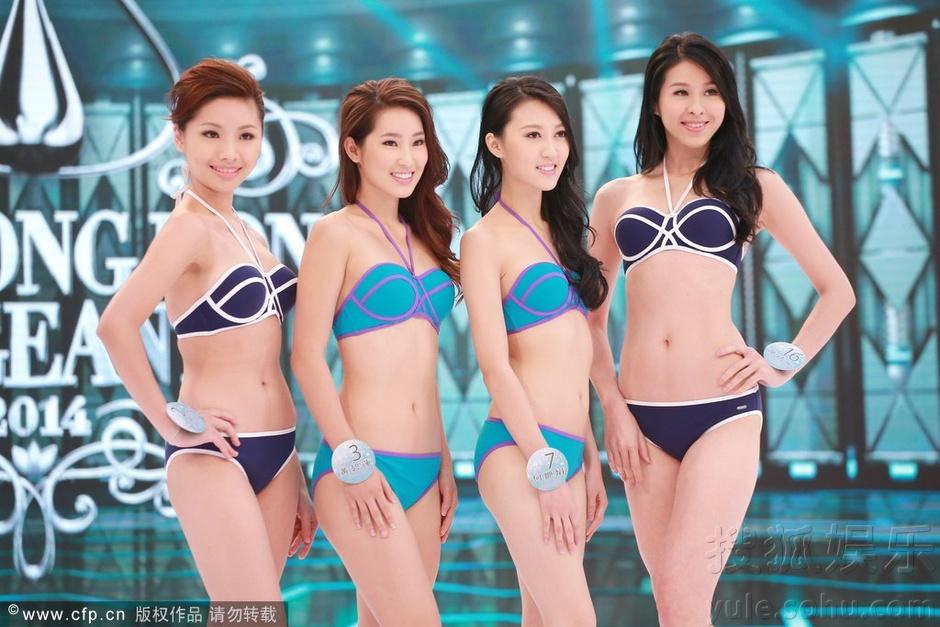 港姐候选佳丽着泳装现身彩排 展性感完美身材(图)