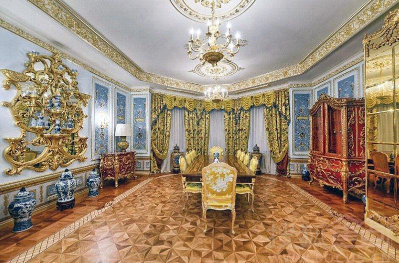 俄富豪抛售豪宅 价值6.6亿黄金装修媲美皇宫