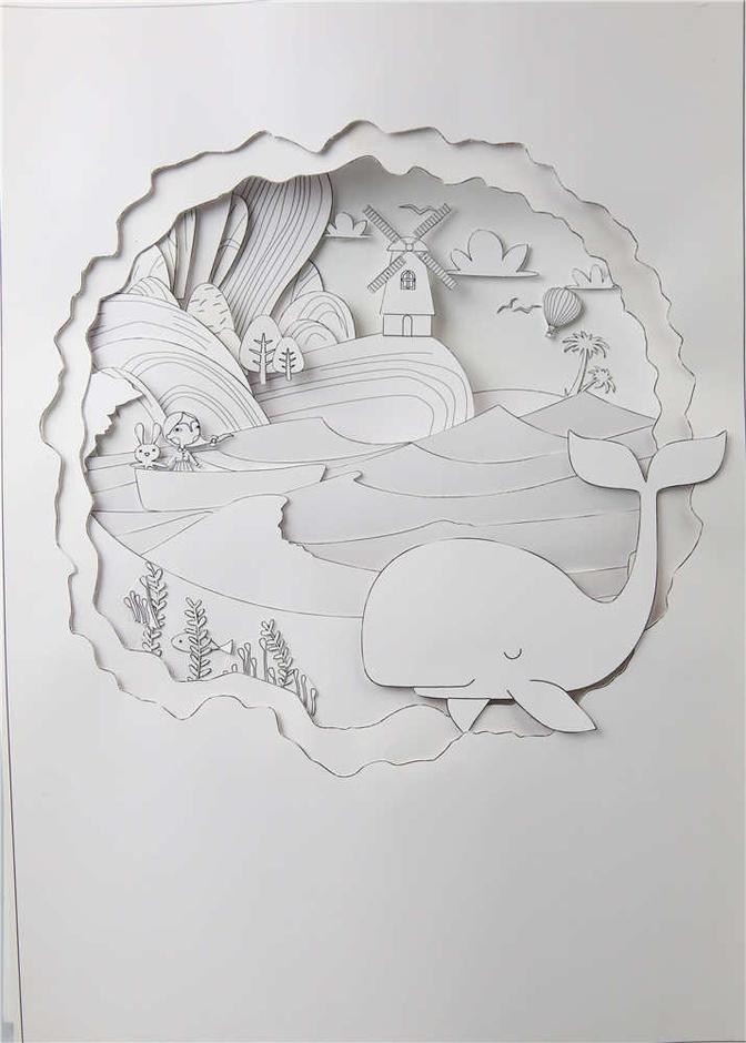 衍纸立体房子制作步骤图片