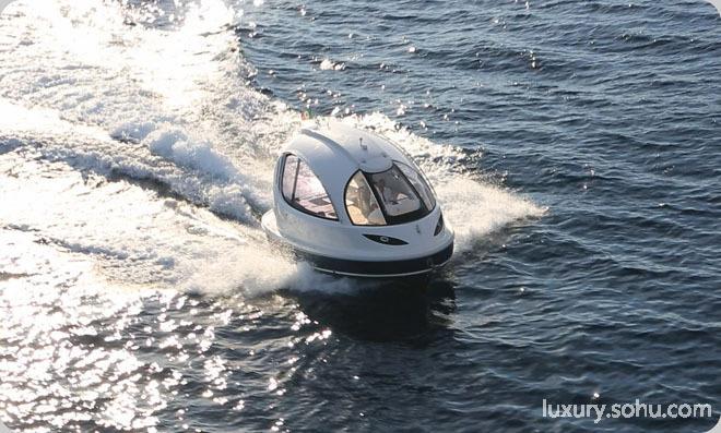 最萌水上二人世界迷你小游艇似天院子物5803外来别墅风水大门图片