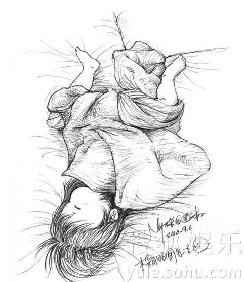 das schlafende Mädchen aus Papa's Augen