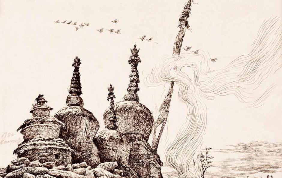 曹勇的素描:黑白魍魉的写生世界