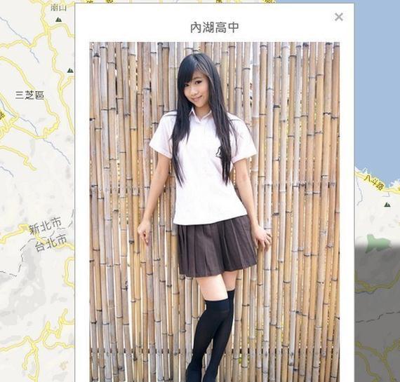 网友绘制台湾女高中生校服地图