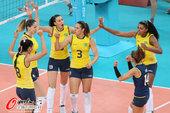 北京时间2012年8月12日,女排决赛上演强强对决,巴西VS美国。