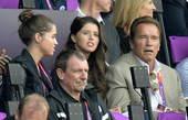 北京时间2012年8月12日,著名演员、前加州州长阿诺德-施瓦辛格现身伦敦碗,观看伦敦奥运会田径比赛...