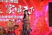 2014年4月26日讯,江苏常州,26日林志玲一身印花裙亲临某家具城活动美如仙子。