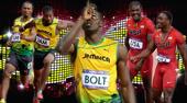 男子4x100米预赛,牙买加队和美国队分别在各自小组中以头名身份昂首晋级,牙买加在博尔特并未出赛的情...