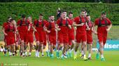 当地时间6月21日,法国里昂,匈牙利训练备战。目前匈牙利以一胜一平暂居小组头名,最后一轮他们将面...