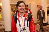 北京时间2012年7月29日,伦敦,中国国家射击队运动员郭文�B,在2012年伦敦奥运会女子10米气手...