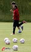 北京时间2012年7月26日,2012年伦敦奥运会,西班牙国奥队训练备战。