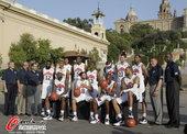 """北京时间2012年7月21日,美国男篮西班牙训练,科比领衔""""梦十""""将战西班牙。"""