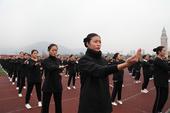 2015年1月8日,四川省成都市,职业学院两万余名学生同时进行咏春拳表演。当日,吉尼斯世界纪录大中华...
