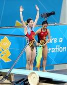 北京时间7月25日。中国跳水队在伦敦奥林匹克水上运动中心游泳跳水馆积极备战。本届奥运会跳水比赛将于7...
