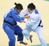北京时间7月31日,徐丽丽代表中国队征战奥运女子柔道比赛。更多奥运视频>> 更多奥运图片>>