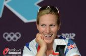 北京时间2012年7月26日,2012年伦敦奥运会前瞻:英国代表团新闻发布会,马术运动员扎拉-菲利普...