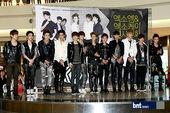搜狐韩娱讯 5月25日晚,韩国SM娱乐重磅推出的新男团EXO-K和EXO-M为纪念第一张迷你专辑的发...