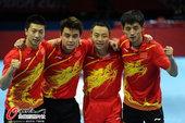 北京时间8月9日,中国乒球王者之师,以3-0横扫韩国夺得男团冠军。更多奥运视频>> 更多奥运图片>>