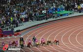 """北京时间8月6日凌晨,2012伦敦奥运会田径比赛重头戏男子100米决赛在""""伦敦碗""""奥林匹克体育场结束..."""