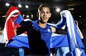 北京时间2012年8月12日,男子拳击52公斤级决赛。古巴选手罗贝希-拉米雷斯-卡拉扎纳以17-14...