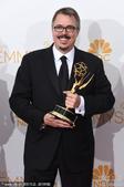 搜狐娱乐讯 北京时间8月26日早6点第66届美国电视艾美奖在洛杉矶举行。图为《绝命毒师》获得剧情类最...
