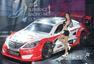 高清:韩国超级赛车模特大赛 长发披肩大眼迷人